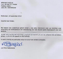 Brief Balkenende 10 sept. 2012